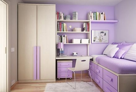 12 Espacios interiores decoradas en tono violeta tan delicado como moderno