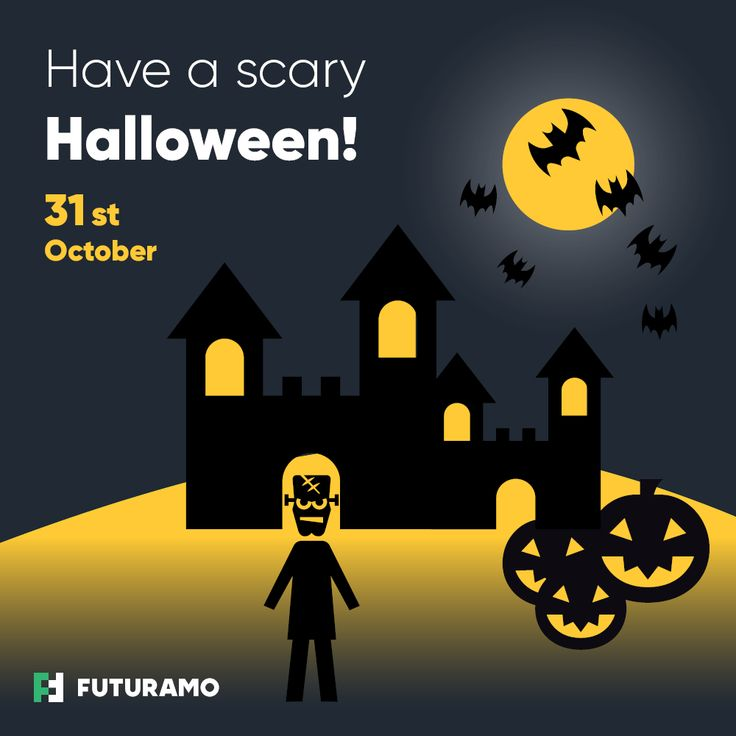 Have a scary Halloween! #halloween #halloweenicons #monster #pumpkin #hauntedcastle #bats