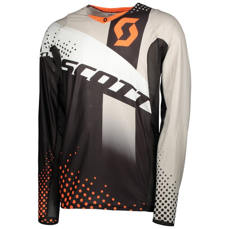 Scott 450 ANGLED / VENTILATED Jersey (ORG/BLK).