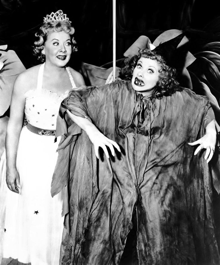 Lucille Ball As A Wicked Witch And Vivian Vance Fairy Princess In The I Love Lucy Episode Enled Little Ricky S School Pageant 1956