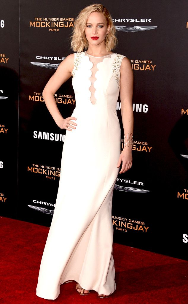 Jennifer Lawrence from The Hunger Games: Mockingjay Part 2 Premieres  In Christian Dior.