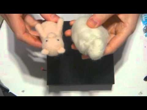 ▶ Needle Felted Farm Animals - Sheep, Cow, Pig - YouTube...magnet added to keep from tipping over, would be good for stop motion