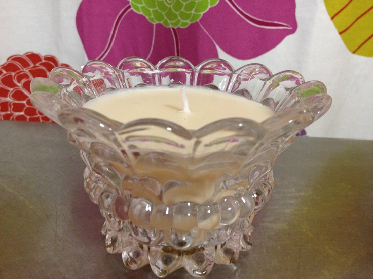Vintage Glass Candle