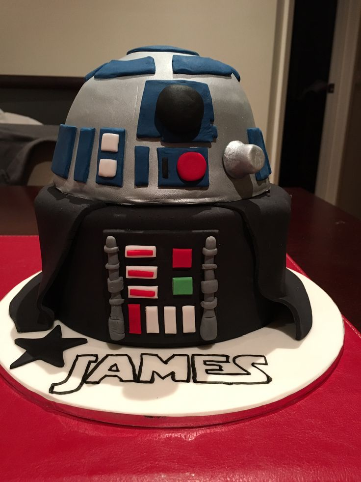 R2D2 & Darth Vader Cake - not my neatest cake decorating, but our little 5 year old birthday boy was over the moon!! That's all that matters.