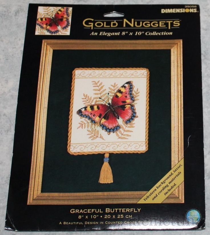 Cross Stitch Kit #35058 RARE. Graceful butterfly - Dimensions Counted. This is a great item to add to your cross stitch collection. This kit is RARE and hard to find. Kit is new and unopened.   eBay!