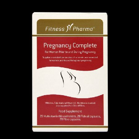 Fitness Pharma Pregnancy Complete Tablets 032285 For women prior to and during pregnancy Provides a combination of nutrients - with iron, folic acid, vitamin D, fish oil  fibre Multivitamin/mineral tablets, fish oil capsules  fibre capsules Fitnes http://www.MightGet.com/march-2017-1/fitness-pharma-pregnancy-complete-tablets-032285.asp