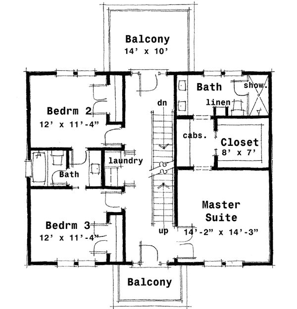 Plan 44045td Center Hall Colonial House Plan House