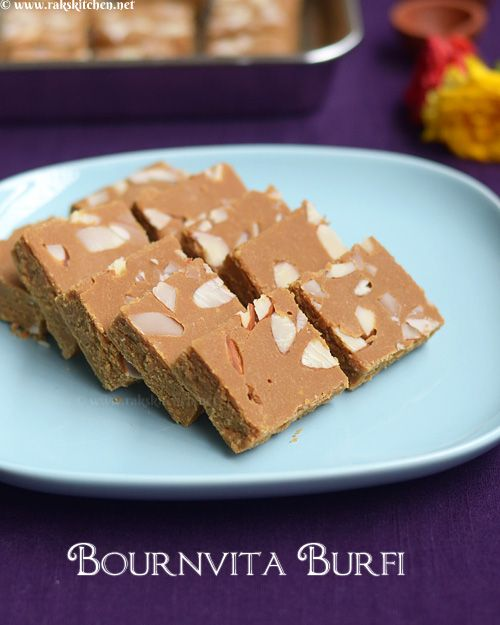 Main Ingredient Recipes: Bournvita Burfi Recipe, With Besan, Sugar And Ghee As Main