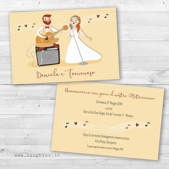 Partecipazioni Matrimonio Tema Musica Sposi Musicisti Etsy Wedding Kit Psd Template Free Wedding Invitations