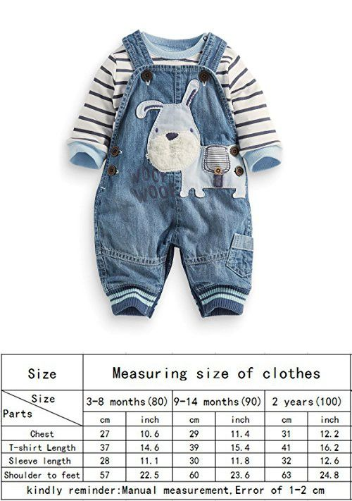 0169424a359a LvYinLi US Baby Boy Clothes Boys  Romper Jumpsuit Overalls Stripe Rompers  Sets (9-14 months