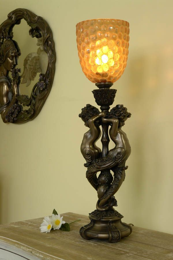 Lampa z Amorami w stylu barokowym / Stylish lamp with Figures Cupids