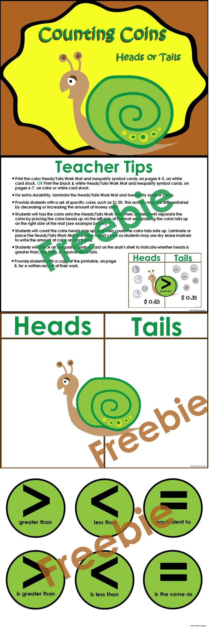 Freebie: Counting and Comparing Coin amounts