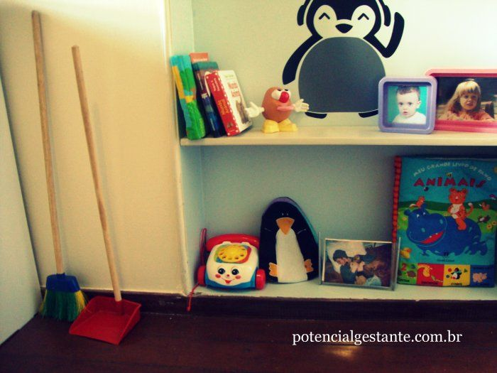 books, broom and lots of penguins, #montessorian_room