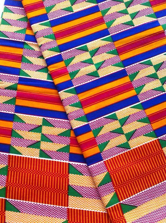 Ntoma African fabric Native material Royal by AfricanPrintFabric, 7.99