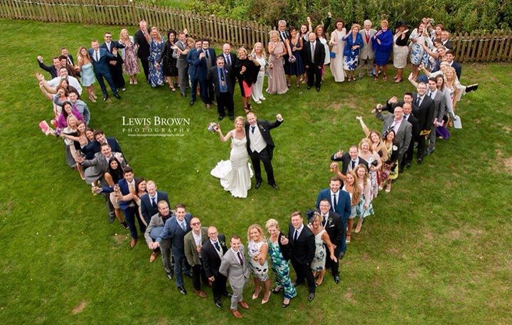 Heart shape group shot | Lewisbrownphotography