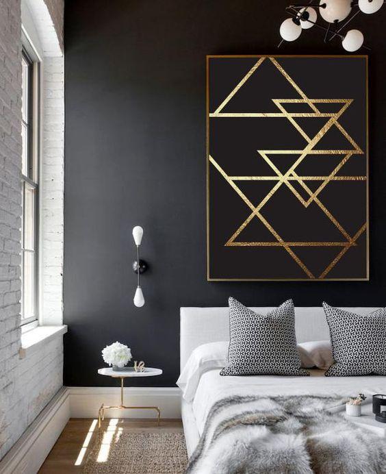 peinture chambre parentale noir