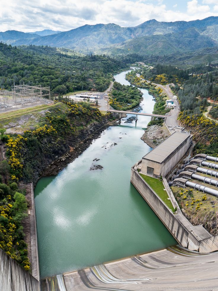 View from atop of Shasta Dam - near Redding, California