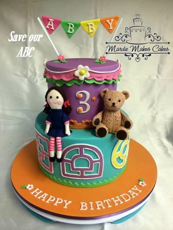 """Play School Cake by Mardie Makes Cakes In Australia we are losing funding to our independent television channel The ABC. I am starting a collection of photos from our local  Cake Decor in Cairns home baking mums and dads to support the facebook page (not run by me) """"Australians Baking Cakes for the ABC.  http://www.cakedecorcairns.com/2014/06/australians-baking-cakes-for-abc.html"""