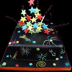 Firework Night cake
