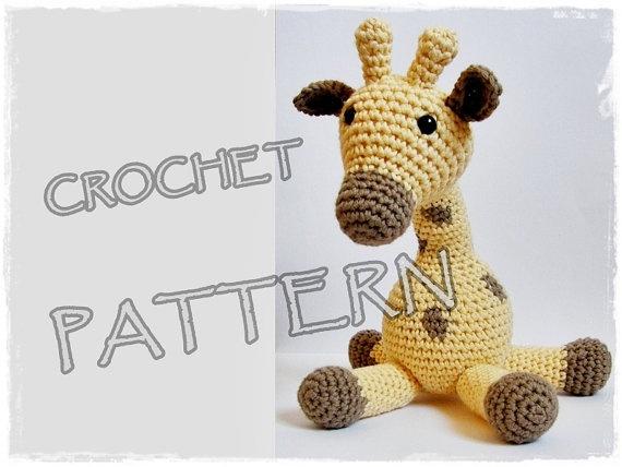 Amigurumi Pattern Crochet Giraffe pdf by ByMarika on Etsy, $4.50