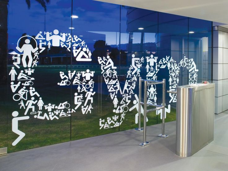 There gym window decals graphics love vinyl pinterest for Window graphics