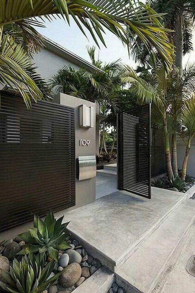 52 Cool Modern Front Yard Landscaping Ideas 32 Fieltro Net Desain Lanskap Desain Eksterior Arsitektur