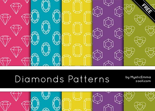 Free diamonds alert! Diamonds Photoshop Patterns are FREE for personal and commercial use. Comments and credits are always greatly appreciated. To download just click the download button. Enjoy! You can purchase extended version of this pattern set in my Etsy Shop: Diamonds Patterns – Premium Edition (includes 20 high quality 300 dpi 12 x 12 […]