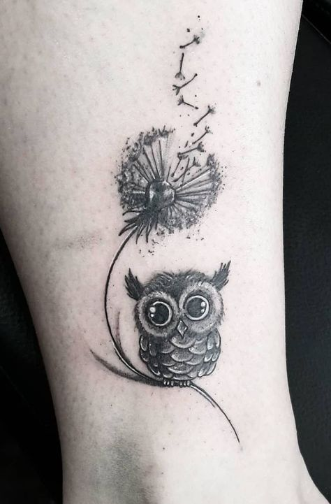 small & cute owl tattoo © Ines Siegel
