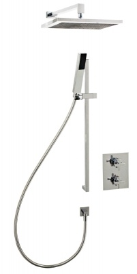 ---  Turn your bathroom into a designer boutique inspired space with this oversized square drench head with additional hand shower.    ---  Available from Roman Ltd - British Made Luxury Shower Enclosures and Bath Screens.  Images Copyright www.roman-showers.com