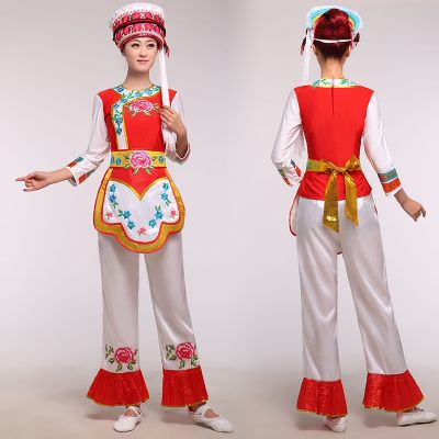 New Bai minority dance clothes dance performance clothing stage costumes butterfly costumes