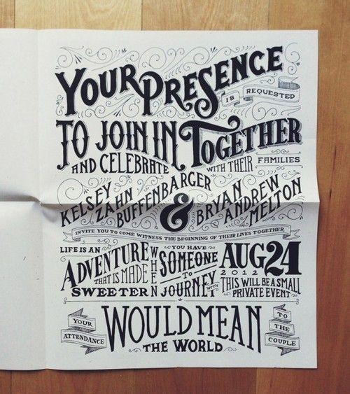 cool typographic invite