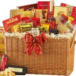 SCHEDULE YOUR DELIVERY DAY! Snack Time Sweet and Savory Gourmet Food Gift Basket with Smoked Salmon