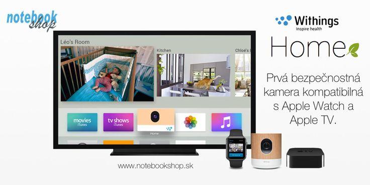 Withings Home + Apple TV: Withings Home je prvá kamera s podporou Apple Watch a Apple TV. Okrem toho má špičkovú kvalitu obrazu a senzory, ktoré monitorujú kvalitu vzduchu. http://www.synetics.sk/withings-home.html