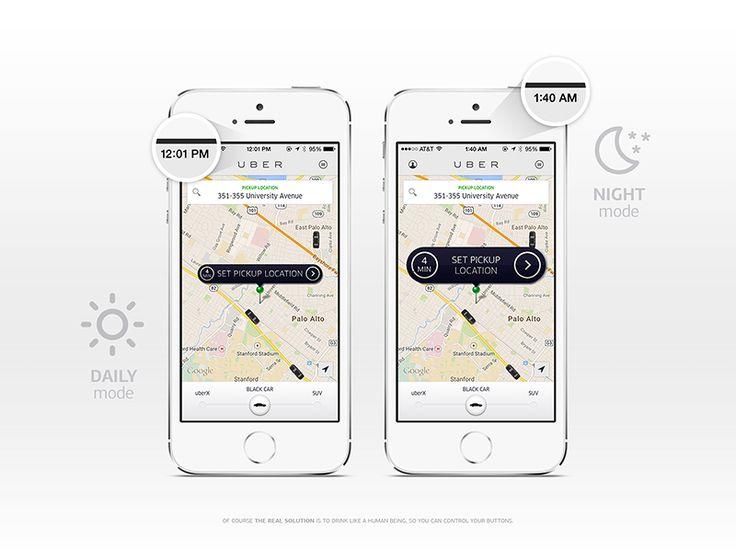 Night Mode / Uber {Design Exercise} by musHo