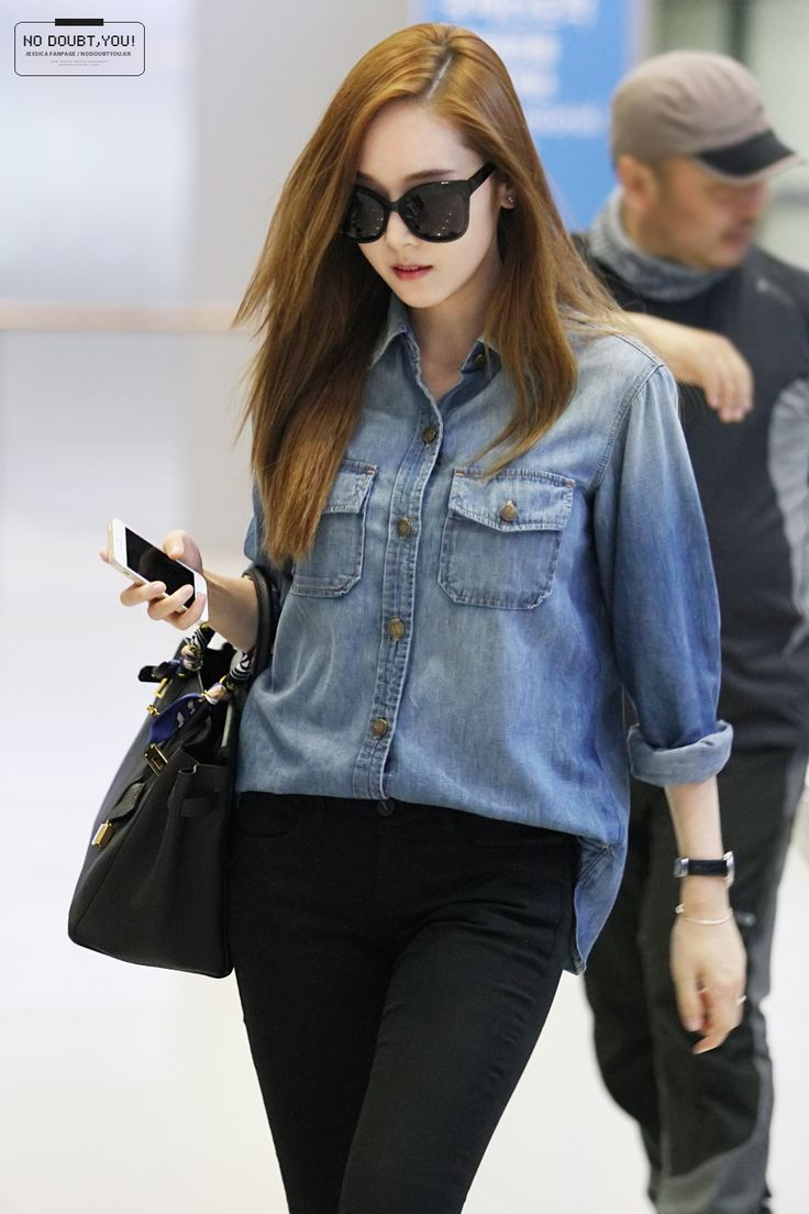 Snsd Jessica Airport Fashion 140519 2014 Snsd Airport Fashion Pinterest Jfk Incheon And