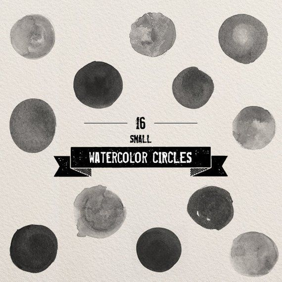 Photoshop Brushes Watercolor Circles Small Hand Painted