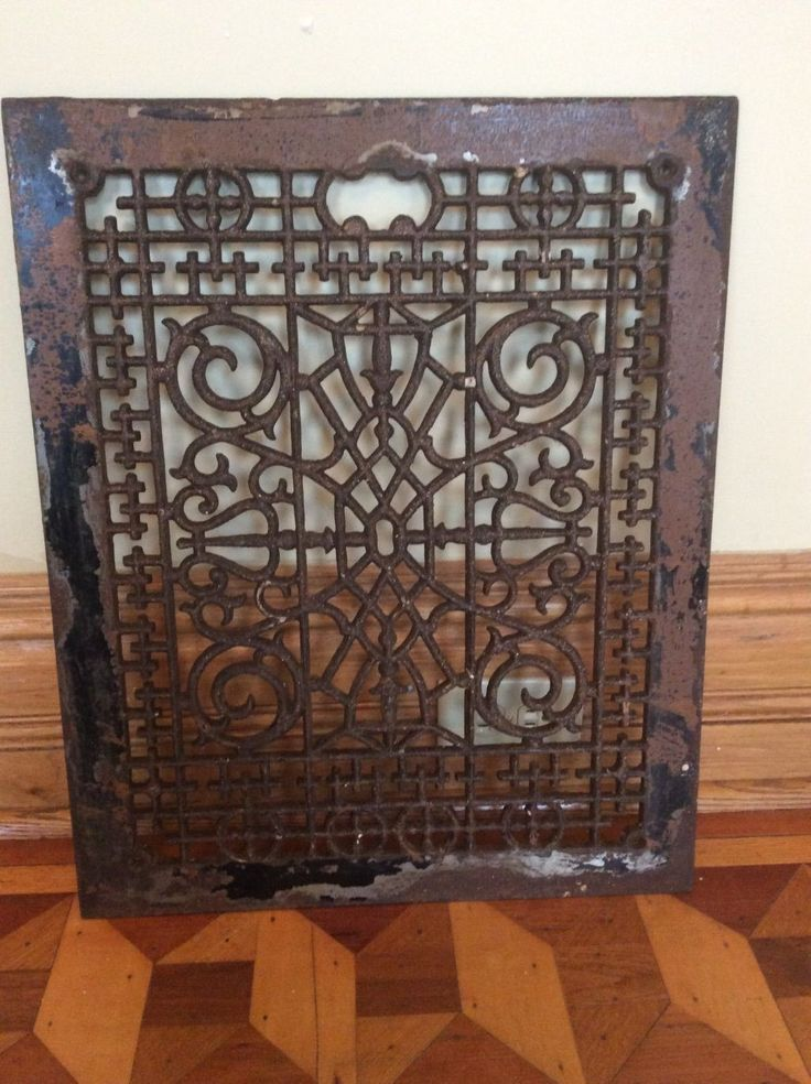 Vintage Large Cast Iron Scrolly Victorian Cold Air Return