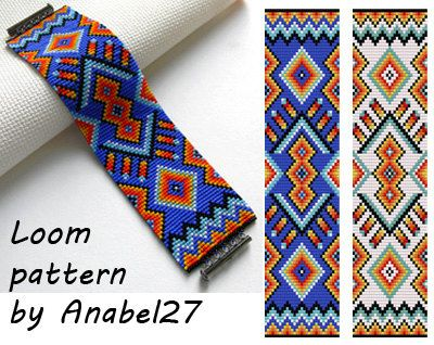 Loom bead pattern -  ethnic style - beaded pattern #13