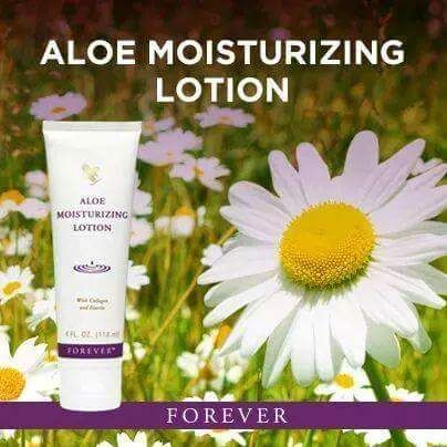 Aloe Moisturising Lotion - Silky moisturising cream containing nourishing aloe, jojoba oil, collagen and elastin to leave the skin feeling soft and supple. Provides all-over moisturisation for your face, hands and body whilst maintaining the skin's natural pH balance. Its easy-to-absorb formula makes a great base for makeup application.  N.B. Suitable for people prone to eczema and psoriasis.  118ml