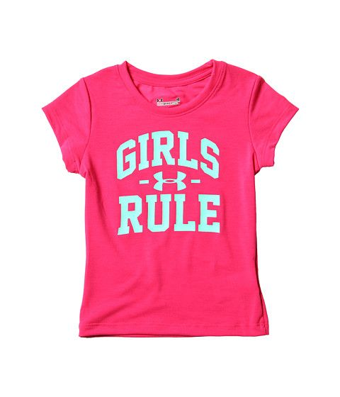 Pres has this and on the back it says, boys drool.... soo cute!! Under Armour Kids Girls Rule Tee (Little Kids)