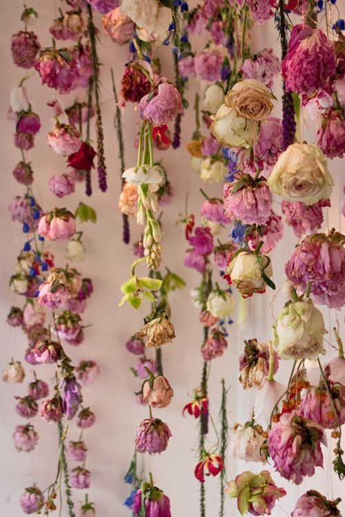 Inspo for my next project featuring flower wall art. Which room do I choose! Check it out - Interior Garden | The Sweetest Space