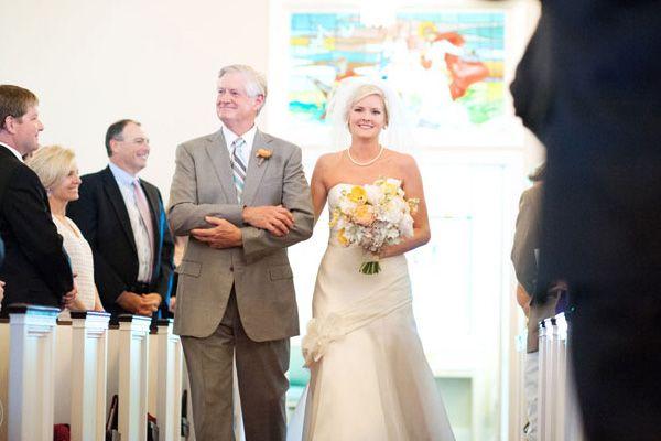 Papá novia cortejo boda