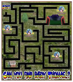 The ultimate printable Thomas the train maze game online for children and preschool kindergarten