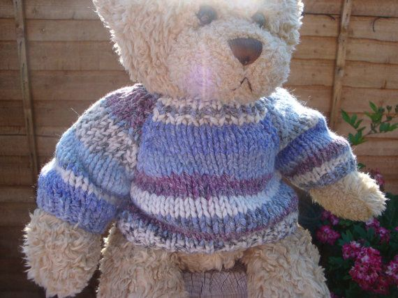 Chunky Teddy Bear Sweater - Hand knitted - Fair Isle ...