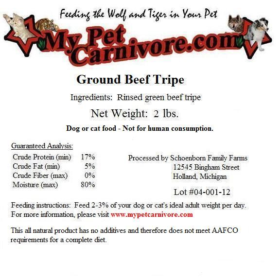 Green tripe is an all time favorite amongst my dogs, and every other dog who has ever eaten it. Numerous benefits to it. My Pet Carnivore is an awesome supplier located in Indianapolis, and they deliver throughout the Midwest.