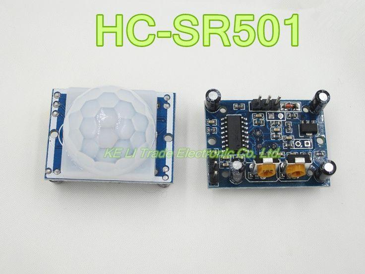 Envío Gratis 10 UNIDS SR501 HC-SR501 Ajuste IR Piroeléctrico Infrarrojo de Movimiento PIR módulo Del Detector Del Sensor de Módulo para arduino