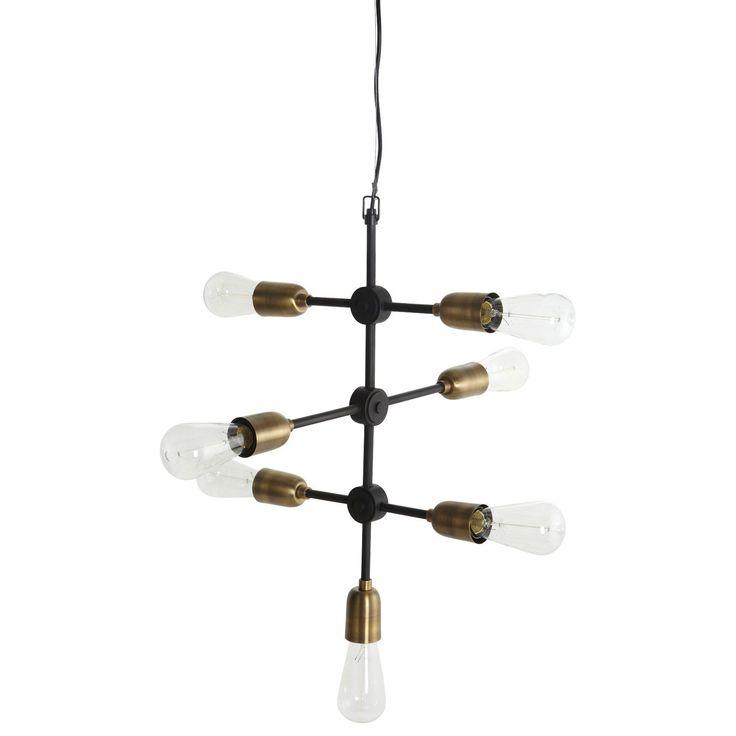 Molecular taklampe fra House Doctor. En skikkelig kul svart taklampe med fine detaljer i messing. La...