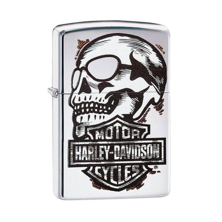 Isqueiro Zippo 29281 Harley-Davidson® Skull Polido - Gerilu.com.br