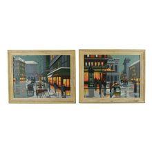 Paris By Night Paint By Numbers Diptych C1958 | Rejuvenation #vintagelove #vintagedecor #vintage #vintagecreative #interiordesign #homedecor #upcycled #antique #salvage