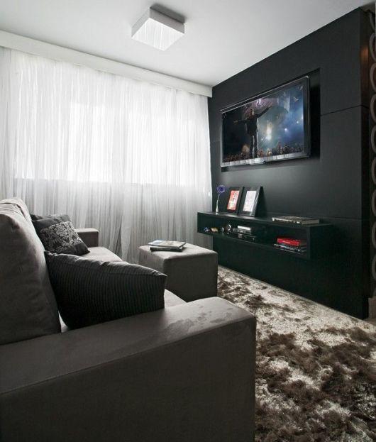 sala decorada com cinza e preto - Pesquisa Google